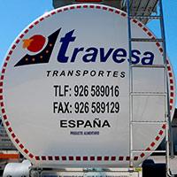 Parte trasera cisterna Travesa